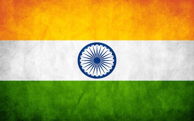 Small flag of India